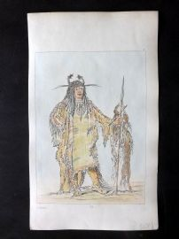 Catlin 1857 HCol North American Indian Print. Pe-toh-pee-kiss, Eagle's Ribs 14